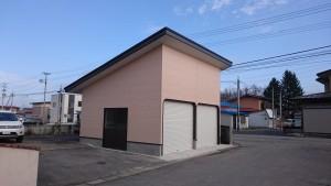 米沢の新築の車庫が完成しました